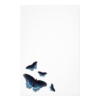 Papelería Almirante Dark-blue Butterflies Painted