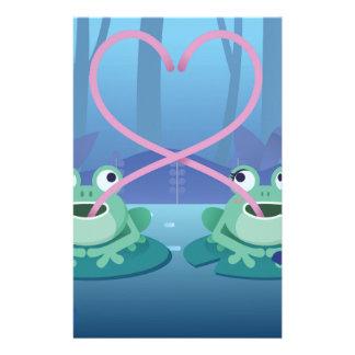 Papelería amantes de la rana del día de San Valentín
