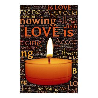 Papelería Amor, cita de la vela