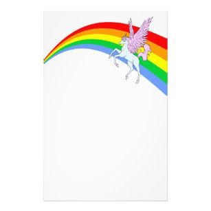 Papelería Arco iris del unicornio del vintage del tigre 80s
