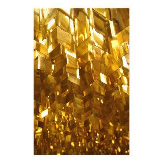 Papelería Arte abstracto del techo del oro