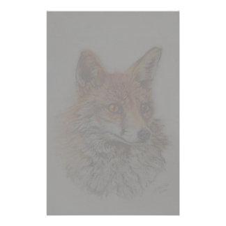 Papelería arte del zorro rojo