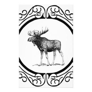 Papelería arte grande de los alces del toro