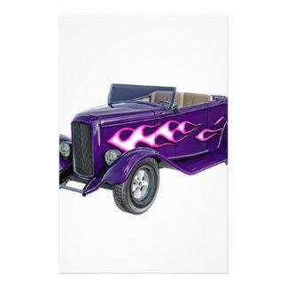 Papelería Automóvil descubierto de 1932 púrpuras con la