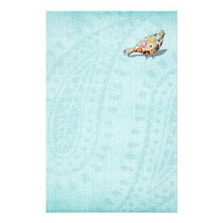 Papelería Azul lindo del pequeño pájaro caprichoso divertido