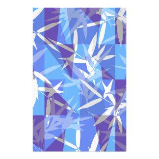 Papelería Bambú en modelo geométrico azul