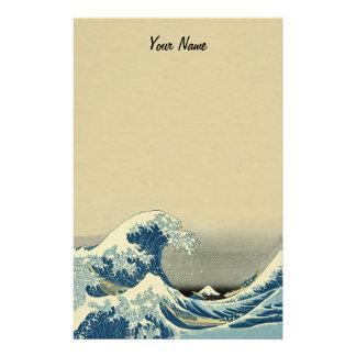 Papelería Barco en olas oceánicas blancas azules grandes en