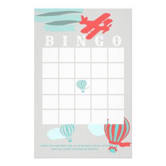 Papelería Bingo de la fiesta de bienvenida al bebé de la