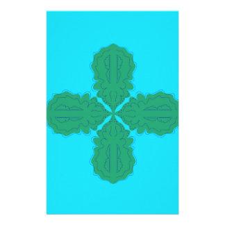 Papelería Bio azul de la mandala del diseño