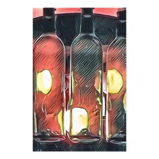 Papelería Botellas de vino artísticas del canela color de
