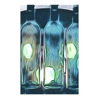 Papelería Botellas de vino artísticas elegantes con clase
