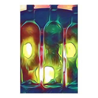 Papelería Botellas de vino artísticas multicoloras