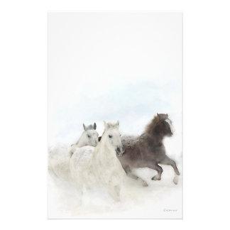 Papelería Caballos de la nieve - inmóviles