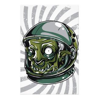 Papelería cara asustadiza del zombi del vintage