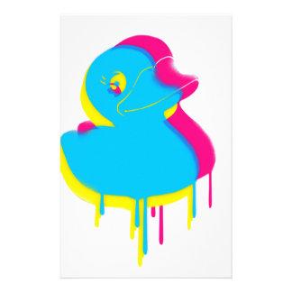 Papelería Caucho de goma del arte pop de la pintada del pato