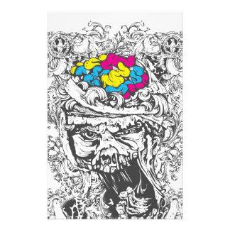 Papelería cerebros del color del vintage
