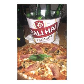 Papelería Cerveza y pizza de Bali