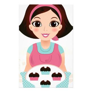 Papelería Chica de la cocina con las galletas