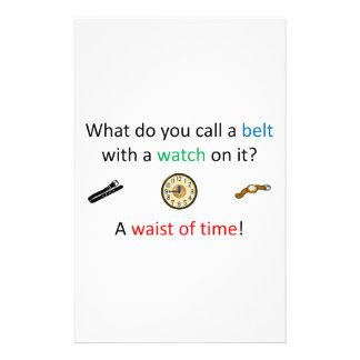 Papelería Cintura del chiste del tiempo
