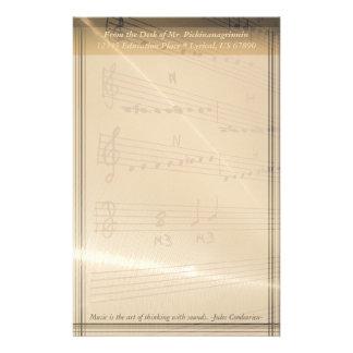 Papelería Cita elegante de Haydn del profesor de música