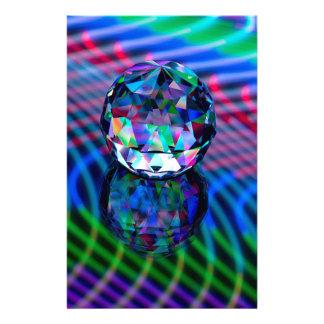 Papelería Color de facetas en vidrio
