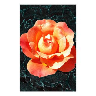 Papelería Color de rosa anaranjado brillante
