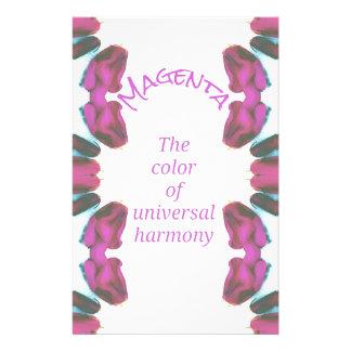 Papelería 'Color magenta elegante de la armonía universal