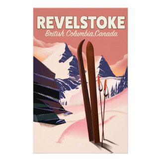 Papelería Columbia Británica de Revelstoke, poster del esquí