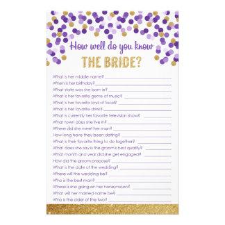 Papelería ¿Como de bien usted conoce a la novia? Juego