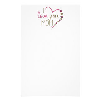Papelería Corazón del día de madres de la mamá del amor