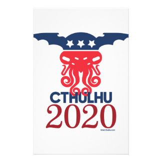 Papelería Cthulhu para el presidente 2020