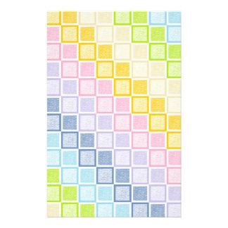 Papelería Cuadrados en colores pastel estáticos del arco