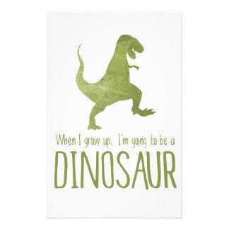 Papelería Cuando crezco, voy a ser un dinosaurio