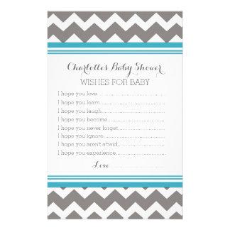 Papelería Deseos de la fiesta de bienvenida al bebé para el