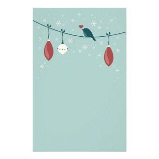 Papelería Día de fiesta lindo del pájaro del invierno