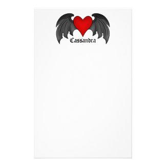 Papelería Día de San Valentín con alas gótico del corazón