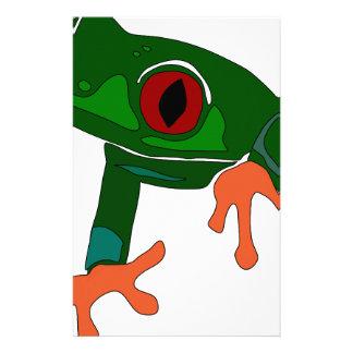 Papelería Dibujo animado de la rana verde