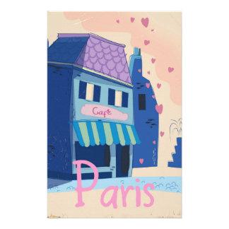 Papelería Dibujo animado del vintage de la calle de París