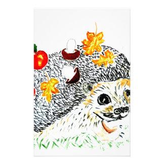 Papelería Dibujo lindo del erizo