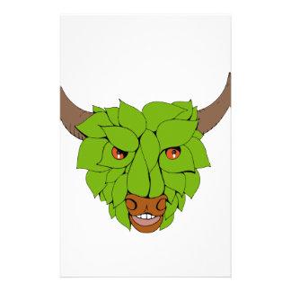 Papelería Dibujo principal verde de Bull