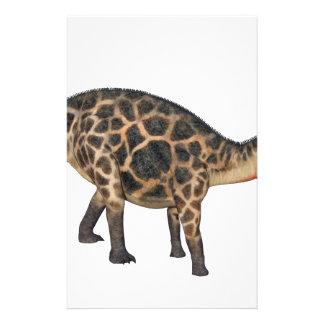 Papelería Dicraeosaurus en perfil lateral