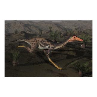 Papelería Dinosaurio de Mononykus por noche