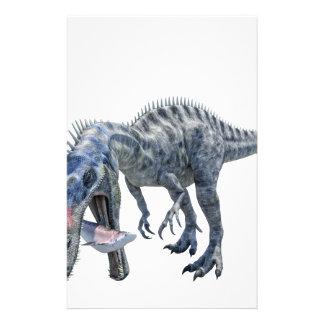 Papelería Dinosaurio de Suchomimus que come un tiburón