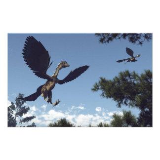 Papelería Dinosaurios de los pájaros del Archaeopteryx que