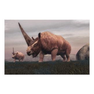Papelería Dinosaurios del mamífero de Elasmotherium - 3D