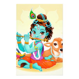Papelería Dios indio de Krishna que juega el ejemplo de la