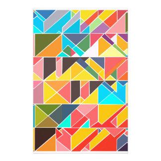 Papelería Diseño abstracto triangular