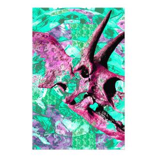 Papelería Diseño de la impresión del cráneo del dinosaurio