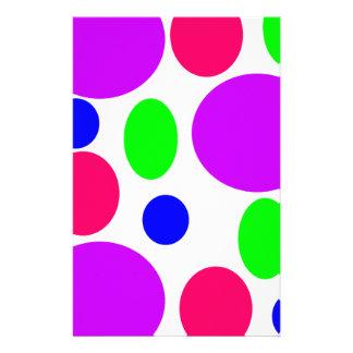 Papelería Diseño de neón de los círculos