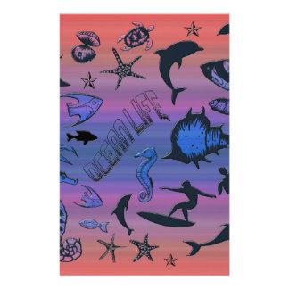 Papelería Diseño del océano